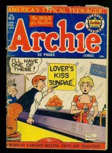 Archie Comics #42 GD- 1.8