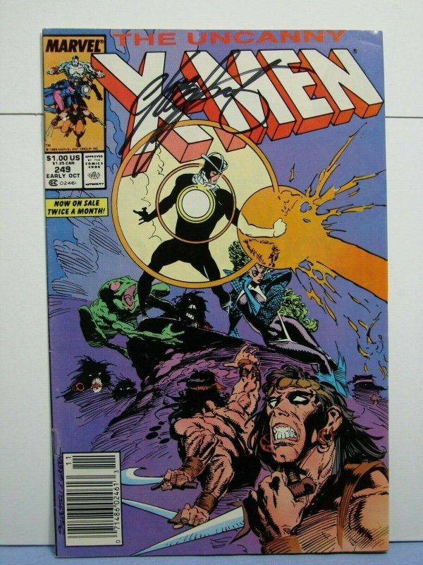 The Uncanny X-Men #249 (Marvel Comics, Early Oct 1989) SIGNED Chris Claremont