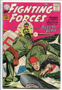 OUR FIGHTING FORCES #61-1960-DC-SILVER AGE-SHARK COVER-GUNNER & SARGE-vg/fn