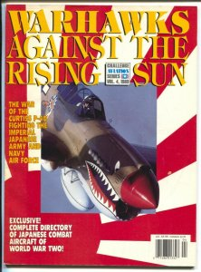 Warhawks Against The Rising Sun #4 1989-Curtiss P-40 vs Japan-WWII-FN
