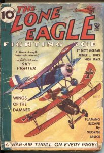 Lone Eagle--AIR WAR HERO Pulp-February 1935- Wings of the Damned--BIPLANE BATTLE