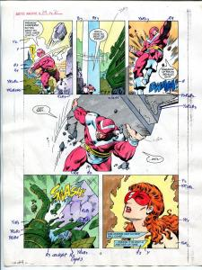 Justice Machine #24 Page #2 1988 Original Color Guide