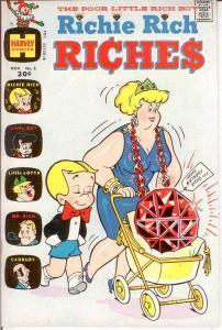 RICHIE RICH RICHES (1972-1982) 3 VF+  November 1972 COMICS BOOK