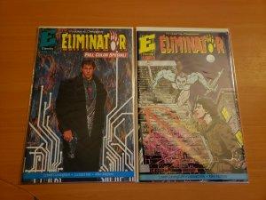 Eliminator 1-2 Complete Set Run! ~ NEAR MINT NM ~ 1991 Eternity Comics