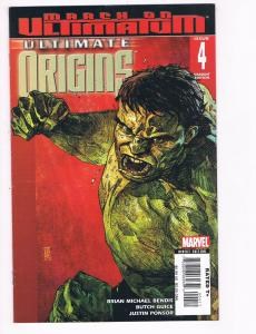 Ultimate Origins # 4 of 5 VF Marvel Comics Iron Man Thor Hulk Bendis Variant S80
