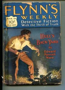 FLYNN'S WEEKLY DETECTIVE FICTION-MAR 26 1927-PULP-CRIME-MYSTERY-THOMPSON-good -
