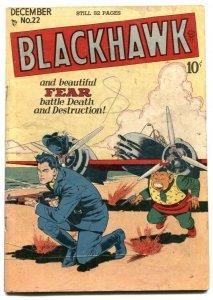 Blackhawk Comics #22 1948- Golden Age- Bill Ward VG