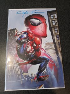 SPIDER-GEDDON #0 VIRGIN VARIANT NYCC EXCLUSIVE COVER SIGNED BY  Clayton Crain