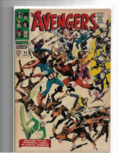 AVENGERS #44 - VG/F - MID GRADE SILVER AGE CLASSIC ISSUE - MARVEL