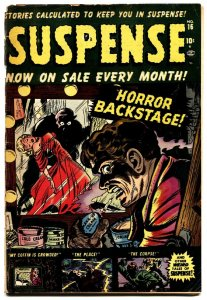 SUSPENSE #16 comic book HORROR vampire-PRE CODE ATLAS HORROR