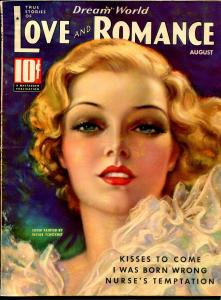 Dream World Love and Romance 8/1936-pin-up girl cover-Tchetchet-spicy-exotic-FN