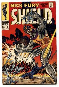 NICK FURY, AGENT OF SHIELD #2 comic book 1968-Marvel-Steranko FN