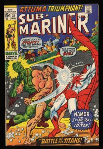 Sub-Mariner #31 VF 8.0 Marvel Comics