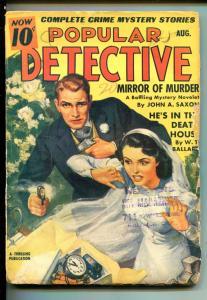 POPULAR DETECTIVE 08/1941-THRILLING-BRIDE-WEDDING-TIME BOMB-vg