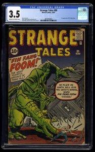 Strange Tales #89 CGC VG- 3.5 1st Fin Fang Foom!