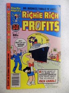 RICHIE RICH PROFITS # 47 HARVEY CARTOON ADVENTURE FUNNY