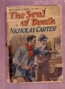 NEW MAGNET LIBRARY-#1053-DIME NOVEL-NICHOLAS CARTER FR