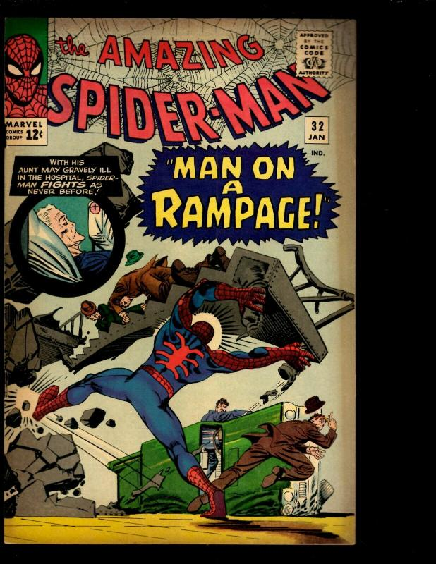Amazing Spider-Man # 32 FN Marvel Comic Book Goblin Gwen Stacy Aunt May NE3