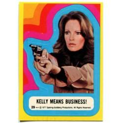 1977 Topps Charlie's Angels Sticker KELLY MEANS BUSINESS! #29