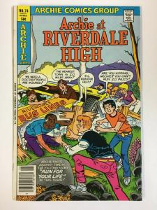 ARCHIE AT RIVERDALE HIGH (1972-1987)74 VF-NM   Aug 1980 COMICS BOOK