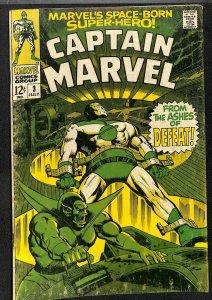 Captain Marvel (1968) #3 VG- 3.5