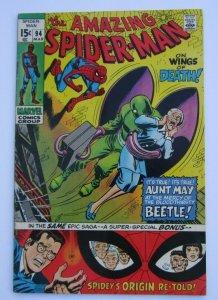 Amazing Spider-Man #94 FN+ Origin Retold Beetle App. Marvel Bronze Age Comic