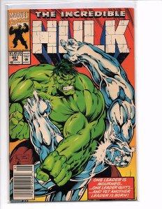 Marvel Comics The Incredible Hulk #401 Peter David Story Gary Frank Cover