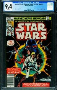 Marvel Movie Showcase Feat. Star Wars #1 1982-CGC 9.4 2038917007