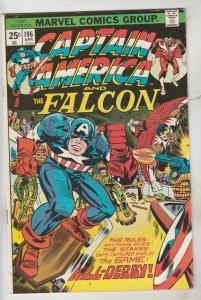 Captain America #196 (Apr-76) FN/VF Mid-High-Grade Captain America
