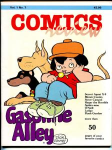 Comics Review #7 1984-Gasoline Alley-Bloom County-Hagar-Steve Canyon-VF