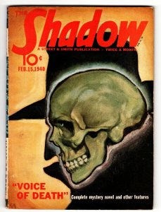 SHADOW Pulp Magazine 1940 Feb 15 STREET AND SMITH-
