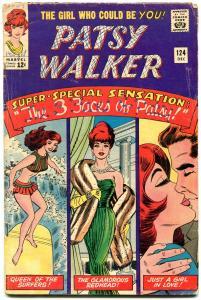 Patsy Walker #124 1965-Marvel-paper dolls- Surfing Sweeties- Last issue G/VG
