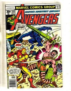 Avengers #163 NM Marvel Comic Book Iron Man Hulk Thor Vision Captain America FM5