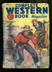 COMPLETE WESTERN PULP-1936-SEPT-BOUND WOMAN COVER--RARE G