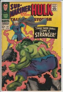 Tales to Astonish #89 (Mar-67) FN/VF Mid-High-Grade Incredible Hulk, Namor th...
