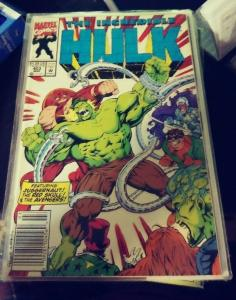 incredible hulk  # 403 1993 marvel juggernaut red skull avengers