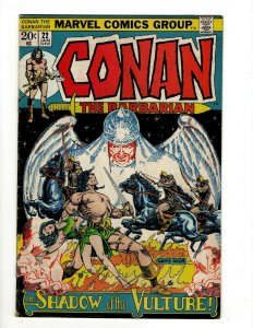 Conan The Barbarian #22 FN/VF Marvel Comic Book Barry Smith Kull King Sword NP16