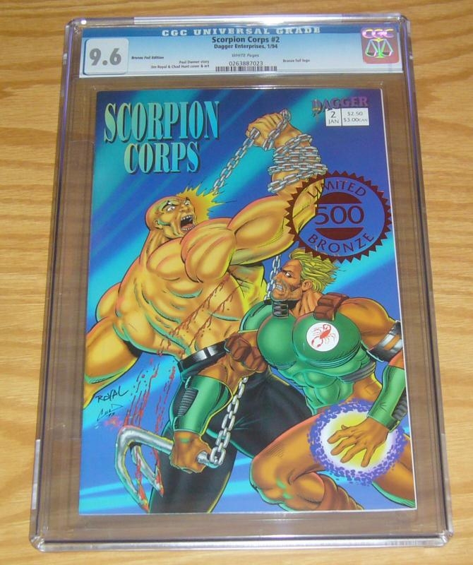 Scorpion Corps #2 CGC 9.6 bronze foil variant - limited to 500 - highest graded