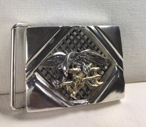 Seal Team 6 sterling silver Gents Belt buckle