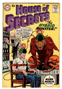 HOUSE OF SECRETS #31 comic book 1960 DC COMICS BRAIN SHOCK
