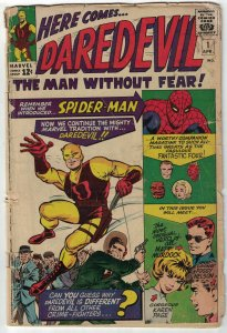 Daredevil #1 FAIR; Marvel | 1st appearance & origin of Daredevil 1964