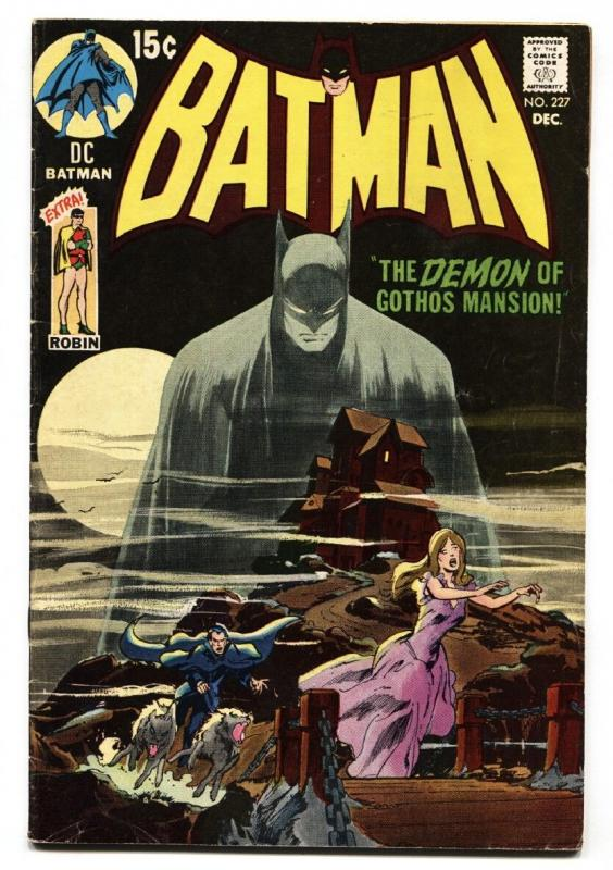 BATMAN #227 1970 NEAL ADAMS COVER-CLASSIC ISSUE-DC-BRONZE AGE