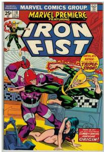 MARVEL PREMIERE 18 F-VF Oct. 1974  IRON FIST
