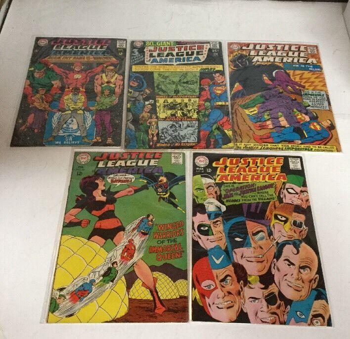 Justice League Of America 51-61 Fn-Vf Fine-Very Fine 6.0-8.0