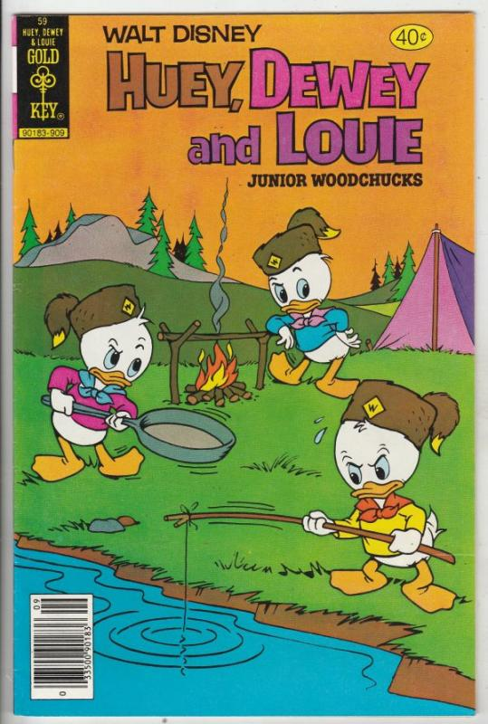 Huey Dewey and Louie Junior Woodchuks #59 (Sep-79) NM- High-Grade Huey Dewey ...
