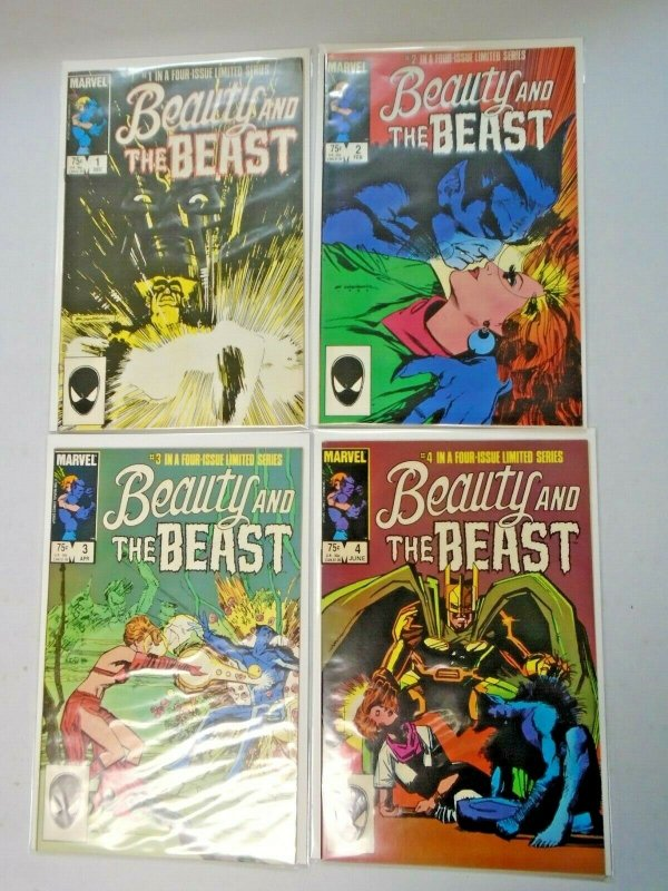 Marvel Beauty and the Beast Set: #1-4 6.0 FN (1985)