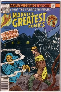 Marvel's Greatest Comics   #72 VG (rep. FF 90)