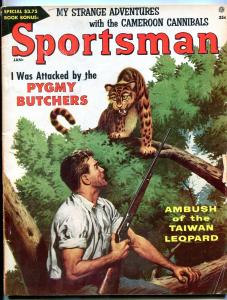 Sportsman January 1957-PYGMY BUTCHERS-WILD LEOPARD COVER VG/FN