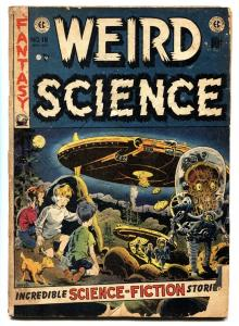 Weird Science #16 Sci-Fi 1952 EC Comics- Wally Wood Flying Saucer cover G