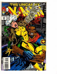 Lot Of 4 Uncanny X-Men Marvel Comic Books # 305 316 317 343 Wolverine Storm J258
